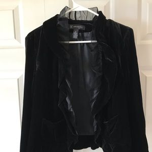 💫Black Jacket Velvet with trim